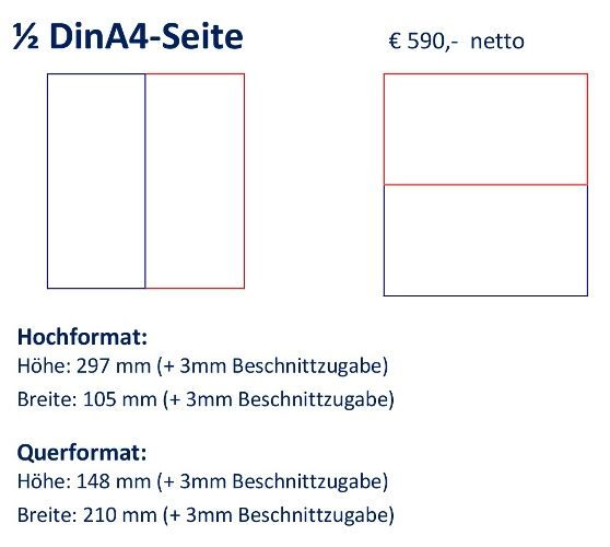 Anzeige 1/2 DIN A4