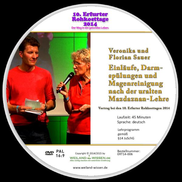 """DVD """"Einläufe, Darmspülungen und Magenreinigung nach der uralten Mazdaznan-Lehre"""""""