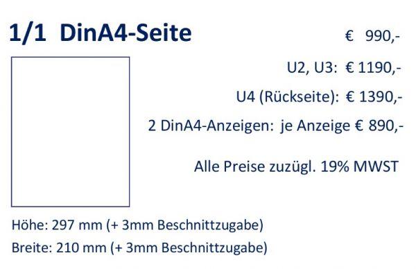 Anzeige 1/1 DIN A4