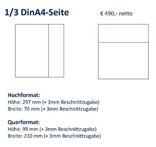 Anzeige 1/3 DIN A4