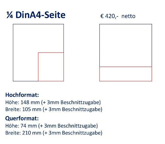 Anzeige 1/4 DIN A4